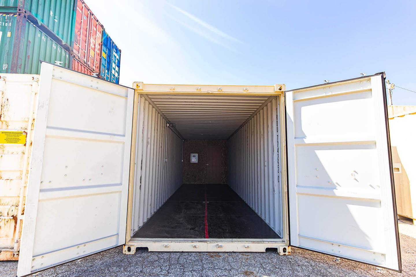 Long View of an Office/Storage combo unit